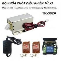 Bộ khóa chốt cửa điện từ điều khiển từ xa TR-302A