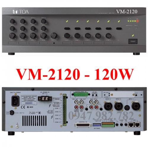 Amply Toa VM-2120 120W chọn 5 vùng loa, đại lý, phân phối,mua bán, lắp đặt giá rẻ