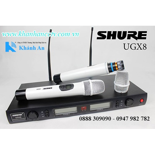 Micro không dây Shure UGX8, đại lý, phân phối,mua bán, lắp đặt giá rẻ