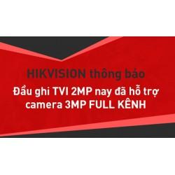 Firmware full 3.0MP cho đầu ghi HDTVI Hikvision 2MP mới nhất 2018