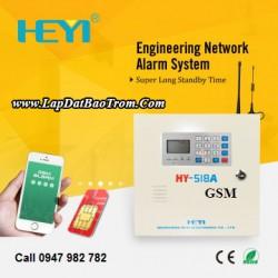 Tủ báo động HEYI HY-518A (GSM), APP điện thoại IOS,Android (báo trộm)