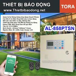 Thiết bị chống trộm AL-858PTSN dùng line điện thoại