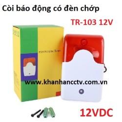 Còi báo động có đèn chớp TR-103 điện 12V