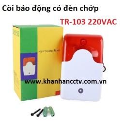 Còi báo động có đèn chớp TR-103 điện 220VAC