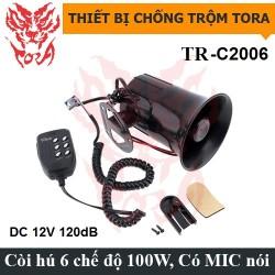 Còi hú báo động 6 âm TR-C2006 12V có mic, công suất lớn