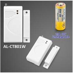 Công tắc từ báo động gắn cửa không dây AL-CT801W tần số 433Mhz
