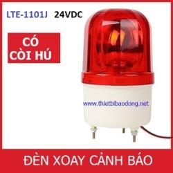 Đèn quay cảnh báo có còi hú LTE-1101J - 24V