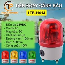 Đèn xoay cảnh báo và cứu hộ LTE-1101LJ có còi, điện 24VDC
