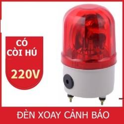 Đèn chớp báo động có còi có dây HS-208 220V