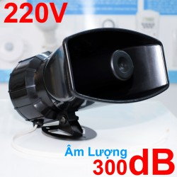 Còi hú công suất lớn 220V KM-AC100W