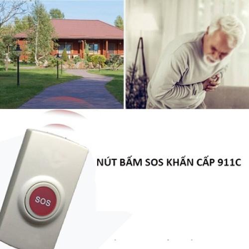 Nút bấm khẩn cấp không dây SOS-911C tần số 433 MHz, đại lý, phân phối,mua bán, lắp đặt giá rẻ