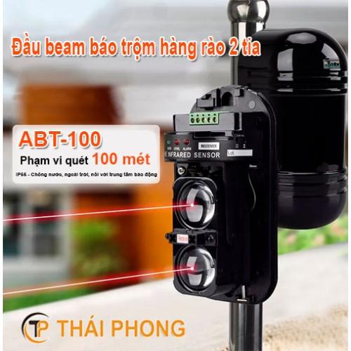 Đầu beam báo trộm hàng rào 2 tia ABT-100, đại lý, phân phối,mua bán, lắp đặt giá rẻ