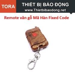 Remote vân gỗ 1 Nút Mã Hàn Fixed Code 433MHz