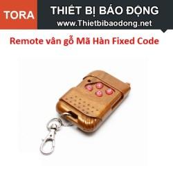 Remote vân gỗ 4 Nút Mã Hàn Fixed Code 433MHz