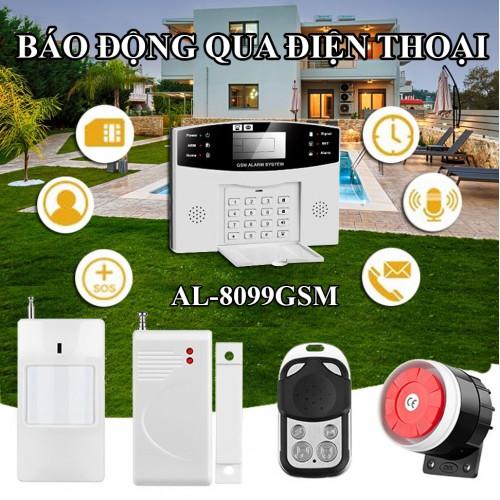 Báo động qua điện thoại dùng SIM AL-8099GSM không dây, đại lý, phân phối,mua bán, lắp đặt giá rẻ
