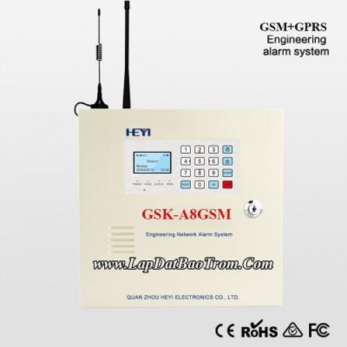 Tủ báo động GSK-A8GSM, APP điện thoại IOS,Android (báo trộm), đại lý, phân phối,mua bán, lắp đặt giá rẻ