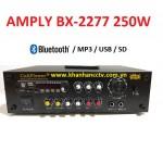 Ampli tăng âm công suất 250W BX-2277 (Blustooth, thẻ nớ, USB)