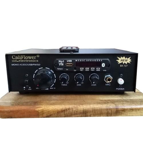 Amply tăng âm mini AC DC 12V CALIFLOWER BX-727, đại lý, phân phối,mua bán, lắp đặt giá rẻ