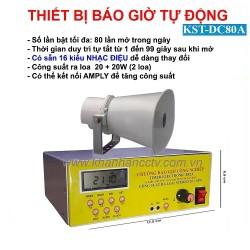 Bộ chuông báo giờ tự động 80 lần/ngày KST-DC80BA