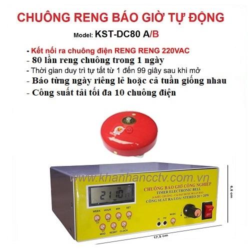 Bộ chuông reng báo giờ tự động 80 lần/ngày KST-DC80A/B, đại lý, phân phối,mua bán, lắp đặt giá rẻ