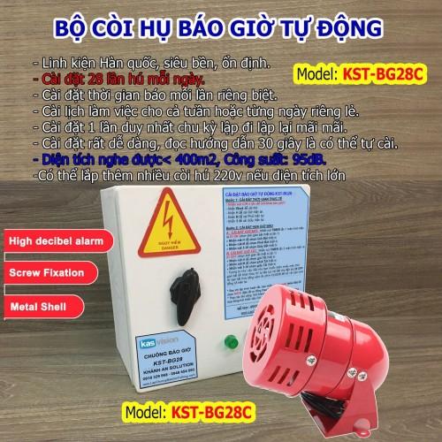 Bộ báo giờ làm việc tự động bằng còi hụ KST-BG28C còi tầm, tan ca khu công nghiệp, đại lý, phân phối,mua bán, lắp đặt giá rẻ