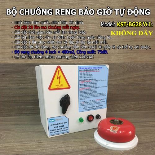 Bộ chuông reo báo giờ tự động không dây KST-BG28WL, đại lý, phân phối,mua bán, lắp đặt giá rẻ
