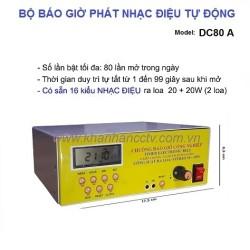 Bộ phát nhạc điệu tự động DC80A, 16 kiểu nhạc báo giờ
