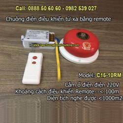 Chuông điện điều khiển từ xa bằng remote 10 inch C15-10RM