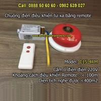 Chuông điện điều khiển từ xa bằng remote C15-4RM, độ vang < 400m2