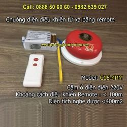 Chuông điện điều khiển từ xa bằng remote 4 inch C15-4RM