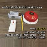 Chuông điện điều khiển từ xa bằng remote C15-8RM, độ vang < 800m2