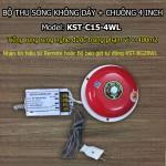 Bộ thu + chuông điện không dây KST-C15-6WL 6 inch