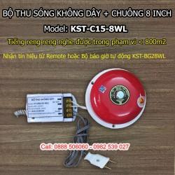 Bộ thu sóng không dây + chuông điện 8 inch KST-C15-8WL