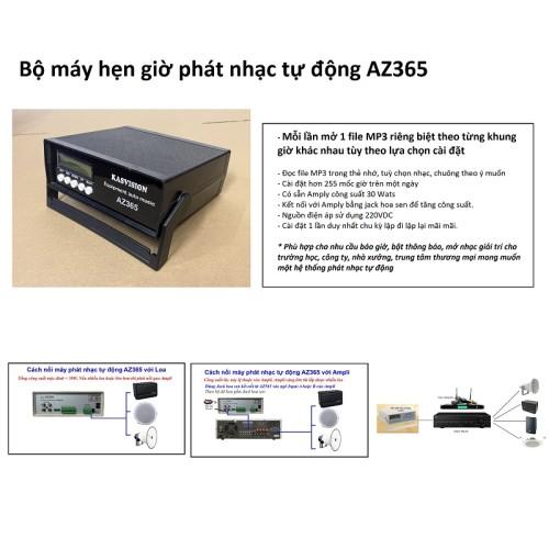 Bộ máy hẹn giờ phát nhạc tự động AZ365, lựa chọn nhạc theo ý muốn, đại lý, phân phối,mua bán, lắp đặt giá rẻ