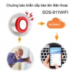 Chuông báo động khẩn cấp SOS-911WIFI báo lên điện thoại
