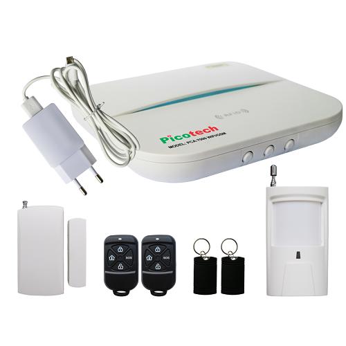 Bộ báo động chống trộm Picotech PCA-7000 WIFI/GSM, đại lý, phân phối,mua bán, lắp đặt giá rẻ