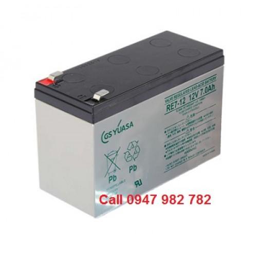 Bình Ắc quy gs Yuasa RE7-12 12V 7A, đại lý, phân phối,mua bán, lắp đặt giá rẻ