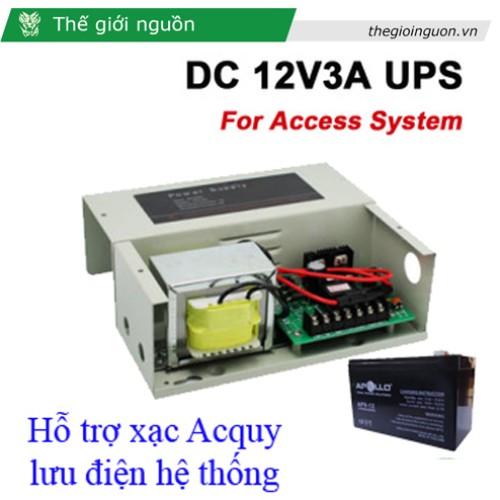 Bộ cấp nguồn 12V 3A UPS-AX067 (hỗ trợ xạc bình Acqui), đại lý, phân phối,mua bán, lắp đặt giá rẻ