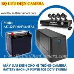 Bộ nguồn lưu điện cho camera AC-220V-600VA/45Ah