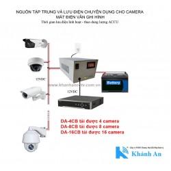 Bộ nguồn cho 04 camera, hỗ trợ xạc bình 12VDC DA-4CB