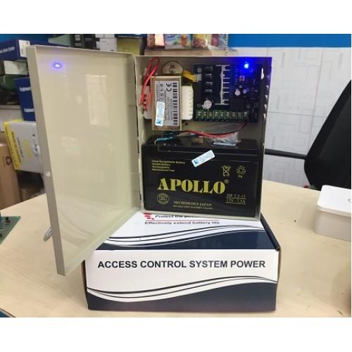 Bộ cấp nguồn lưu điện cho khóa, kiểm soát cửa, camera, modem, wifi 12V-5A UPS-1205A, đại lý, phân phối,mua bán, lắp đặt giá rẻ