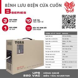Bộ lưu điện cho cửa cuốn B400 tải Motor 400Kg