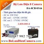 Bộ nguồn lưu điện cho 08 camera DA-8CB/45Ah 12VDC