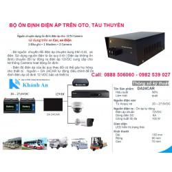 Thiết bị ổn định nguồn điện áp 24V DA24CAR cho thiết bị điện tử trên oto, xe khách, tàu thuyền