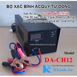 Bộ sạc bình Acquy tự động 12V DA-CH12 (xạc 1 bình 12V từ 5Ah đến 200Ah)