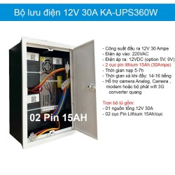 Bộ lưu điện TORA UPS-DC12V,dự phòng cho Camera,Khóa,Modem wifi..