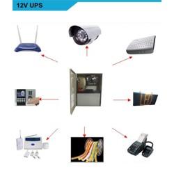 Bộ cấp nguồn lưu điện cho khóa, kiểm soát cửa, Camera, Khóa, Modem wifi.. UPS-AX068