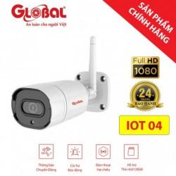 Camera không dây ngoài trời Wifi Full HD siêu nét IOT04, có còi báo động