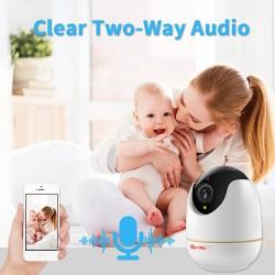 Camera Wifi chống trộm, theo dõi chuyển động, quay quét 360 độ IOT03, kết nối không dây 2.0 MP