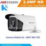 Camera HIKVISION hình trụ hồng ngoại 40m ngoài trời DS-2CE16F1T-IT3 3.0MP